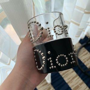 Christian Dior Black Lucite Cuff Bracelet